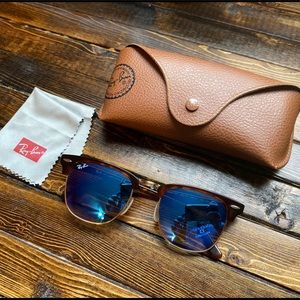 Ray-Ban Clubmasters with Blue Lenses